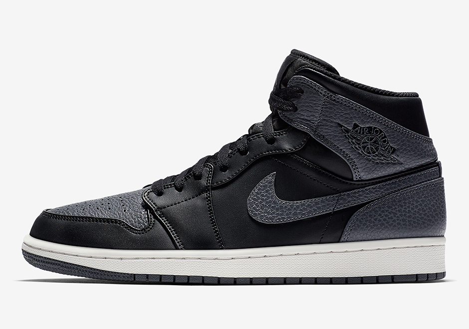 official photos 7ab2e 98682 The Air Jordan 1 Mid Appears In Attractive Tumbled Leather