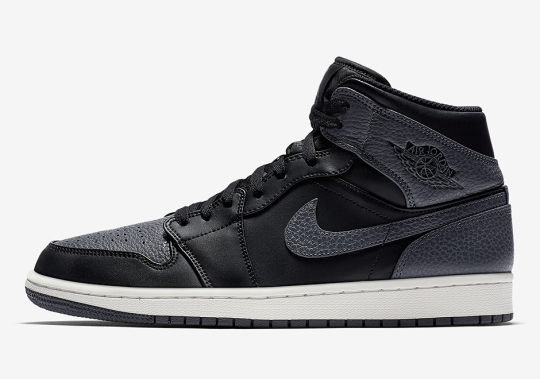 The Air Jordan 1 Mid Appears In Attractive Tumbled Leather