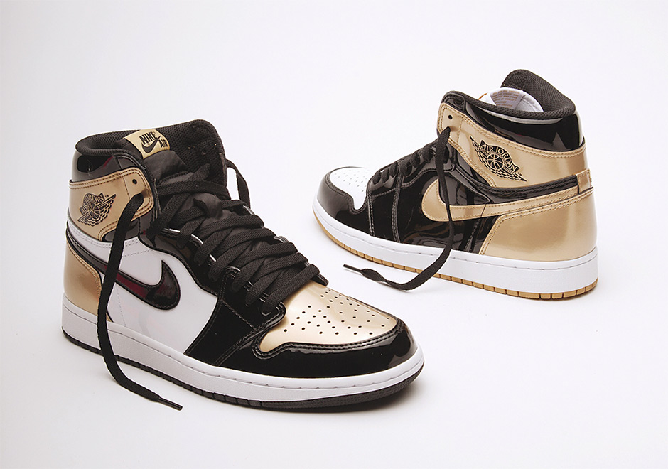 The Complex Con sneaker release exclusives continue as Union Los Angeles  officially unveils an Air Jordan 1 in black and gold patent leather styled  after ...