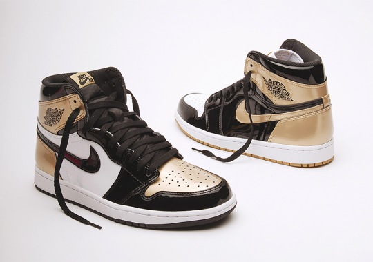 "Air Jordan 1 ""Top 3"" In Black And Gold Releasing At Union LA Complex Con Booth"