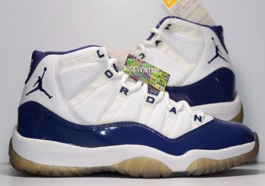 """Incredible Rare Air Jordan 11 Retro """"Twilight Blue"""" Sample Appears"""