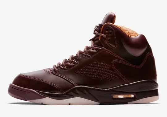 """Official Images Of The Air Jordan 5 Premium """"Bordeaux"""""""