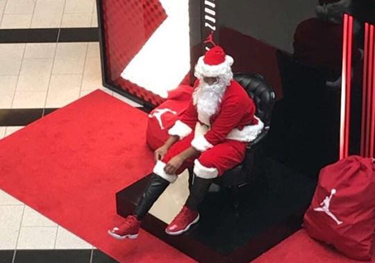 """Jordan Brand Dresses Santa Claus In Air Jordan 11 """"Win Like '96"""" At Select Malls"""