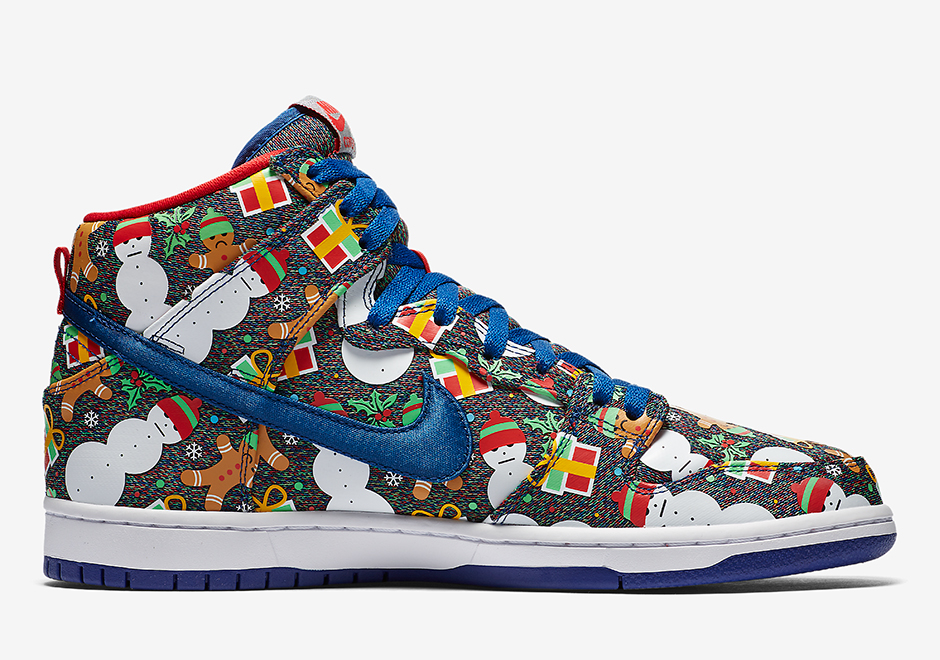 b1b2169be83478 Concepts Nike SB Dunk High Ugly Christmas Sweater SNKRS Release Date ...