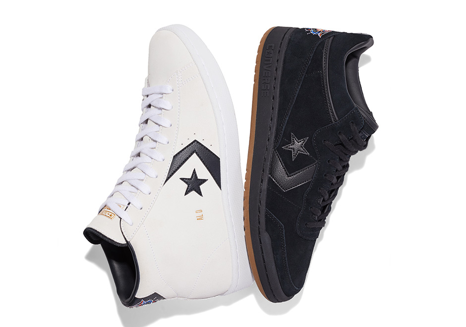 "cd43b8c225a98b Al Davis x Converse ""Court Pack"" Available Now at Converse  85 (Pro  Leather)  95 (Fastbreak)"