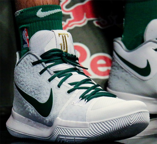 Jayson Tatum Gets Kyrie-Inspired Nike Logo On Kyrie 3 PE