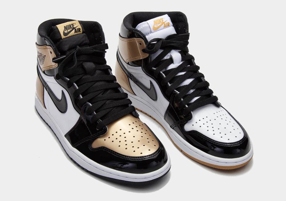 Air Jordan 1 Top 3 Black Gold Patent