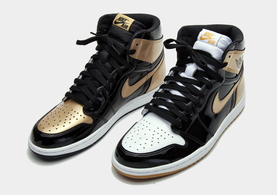 outlet store 2826f 35d58 Air Jordan 1 Top 3 Black Gold Patent Leather | SneakerNews.com