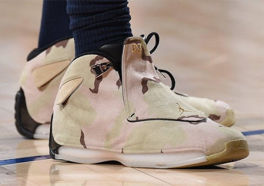 "Jimmy Butler Wears Air Jordan 18 Retro ""Camo"" PE For Veterans Day"
