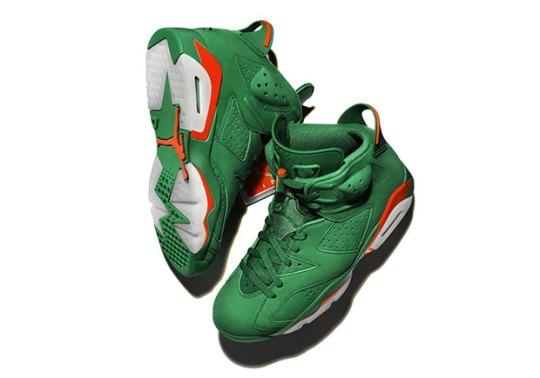 "Air Jordan 6 ""Gatorade"" In Green Suede Releases On December 30th"