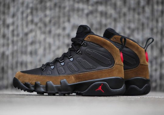Detailed Look At The Air Jordan 9 Olive Boot