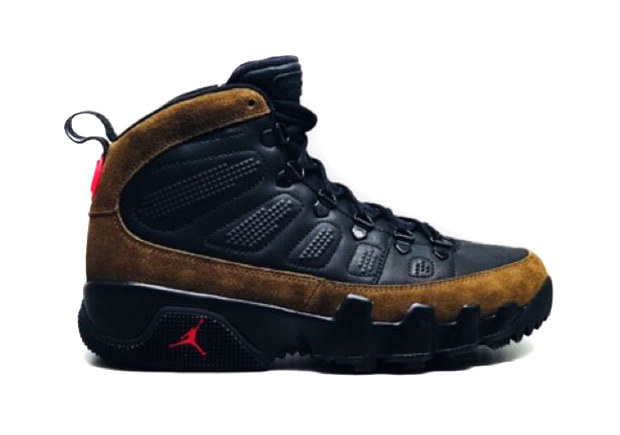 "92f13845edbe The Air Jordan 9 ""Olive"" Transformed Into A Winter Boot"