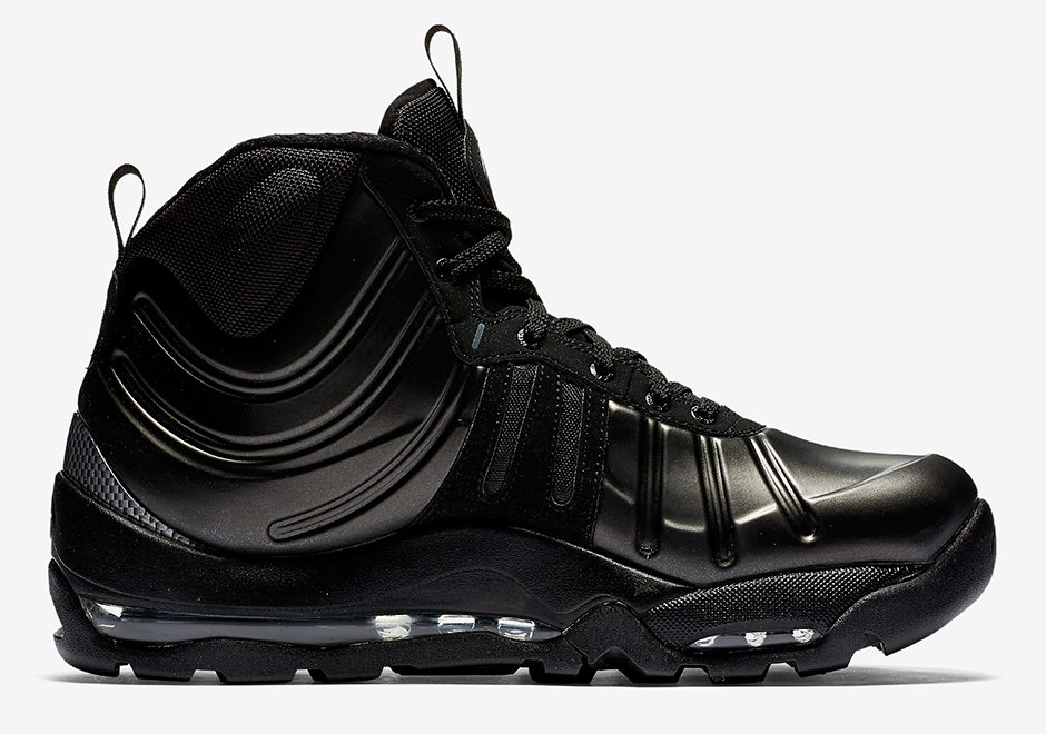341dc1e65d042 Nike Air Bakin  Posite AVAILABLE FROM Nike  225. Color  Black Black Black Anthracite  Style Code  618056-001. Advertisement. Nike Air Bakin  Posite