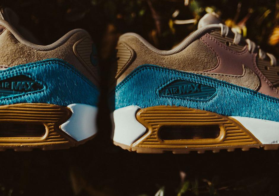 WMNS Nike Air Max 90 LX Mushroom Smokey Blue Release Date +