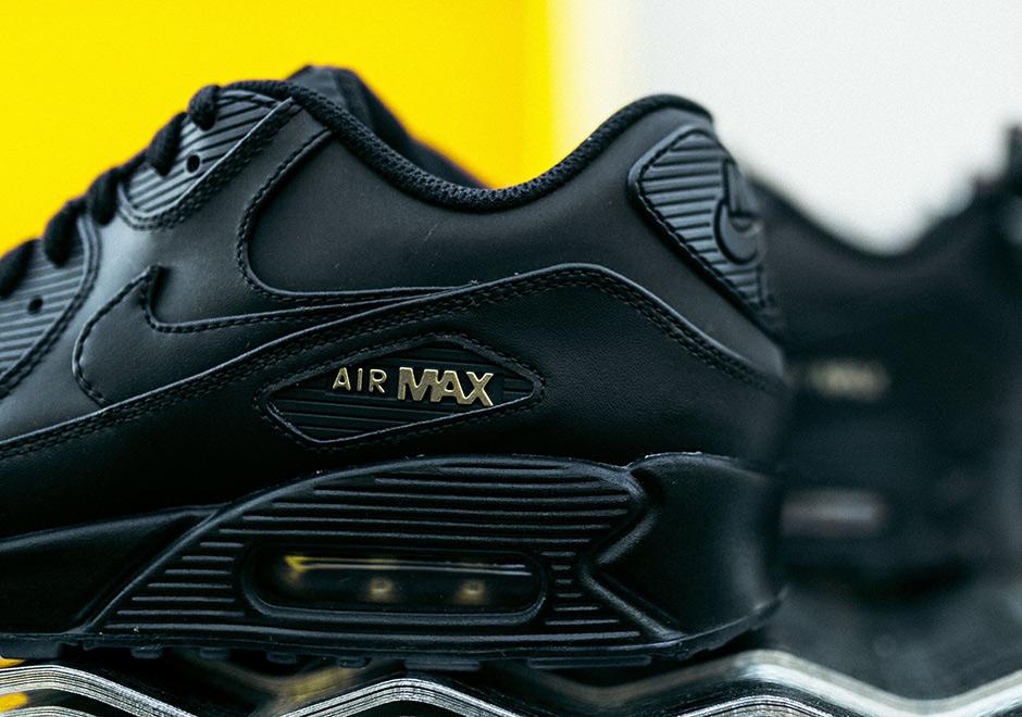 Nike Air Max 90 Black and Gold Black