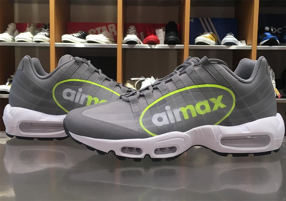 28d227d3e3 Nike Air Max 95 NS GPX Release Date: November 25th, 2017 $150. Color:  Dust/Volt-Dark Pewter-White