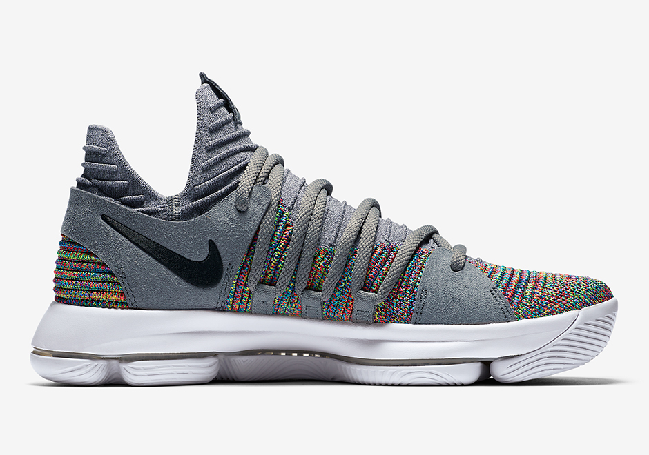 meet a6b19 5a979 Nike KD 10. Release Date December 7th, 2017 150. Color MulticolorBlack-Cool  Grey-White