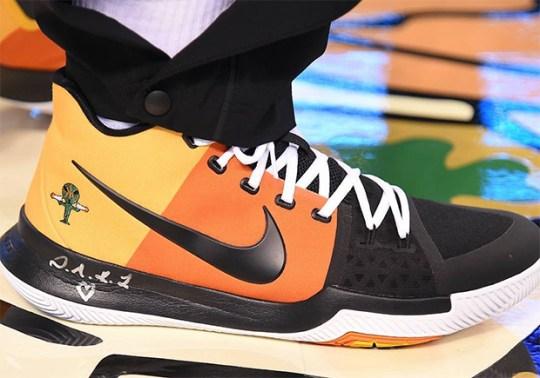 "Kyrie Irving Sports Nike Kyrie 3 ""Rayguns"" PE"