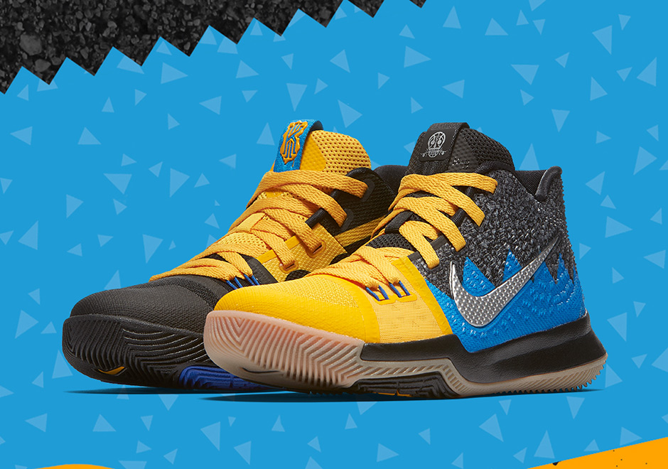 "half off 0080b d63bb The Nike ""What The"" Kyrie 3 For Kids Releases This Friday On SNKRS"