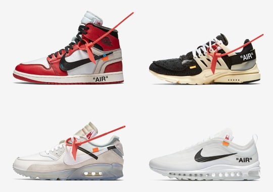 "Official Images Of The OFF WHITE ""The Ten"" Appear As Nike Readies SNKRS Release"