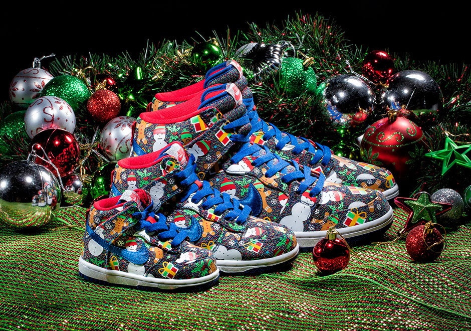 new concept 8c9ad ad12b Concepts Nike SB Dunk Ugly Christmas Sweater Release Info ...