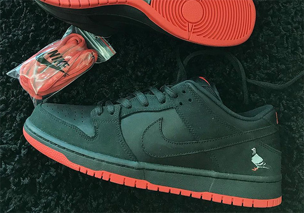 "522946869570 The sequel to Jeff Staple s Nike SB Dunk Low ""Pigeon"" is scheduled to  release on November 11th. Featuring a new all-black upper with the return  of the ..."