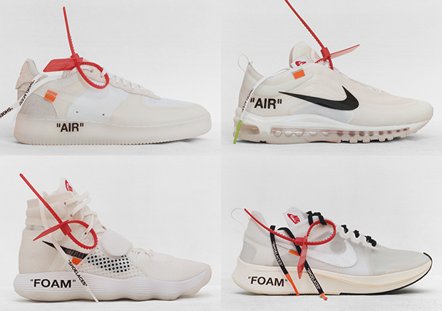 nike off white shoes