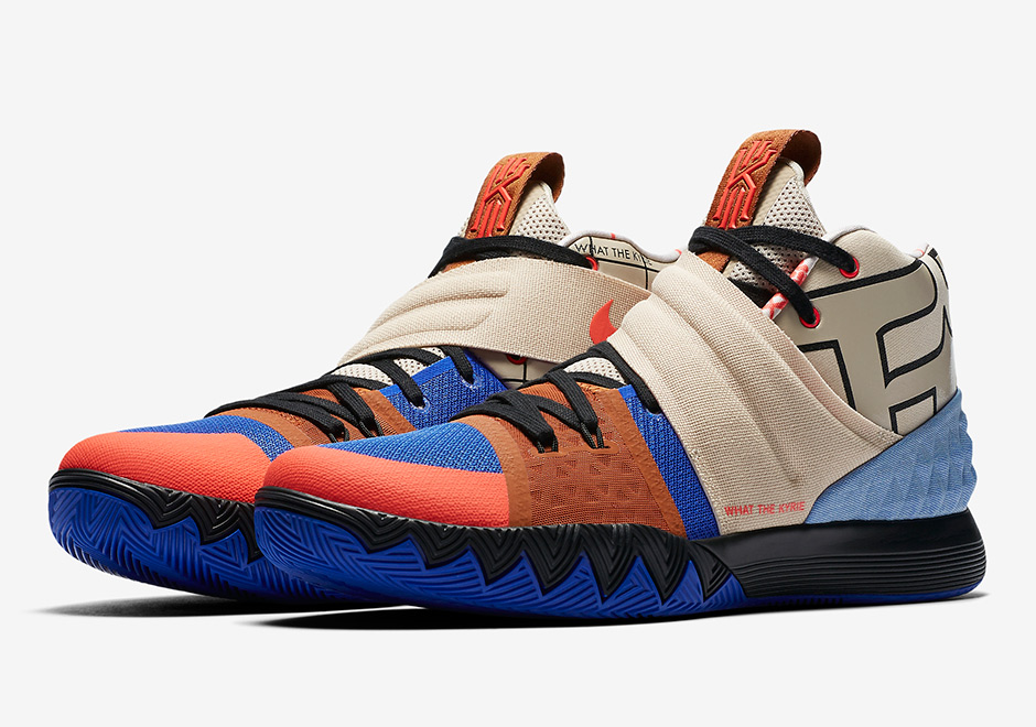 8111dbdf97f0 The mash-up of Kyrie signature shoes is now getting the mash-up of Kyrie  details as a first look at the Nike Kyrie S1HYBRID sneaker in this ...