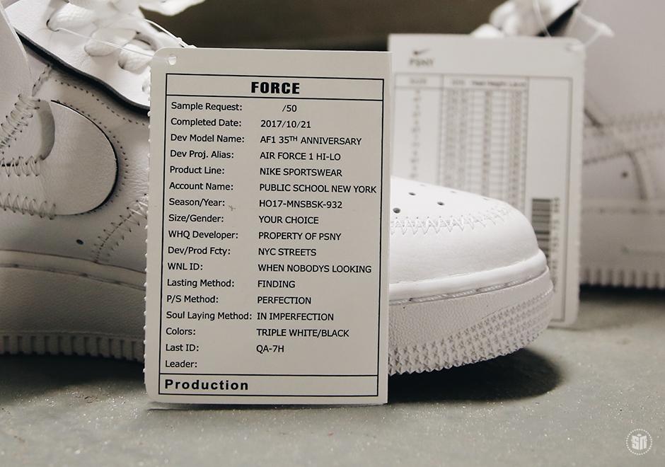 PSNY Public School Nike Air Force 1 High A09292 100