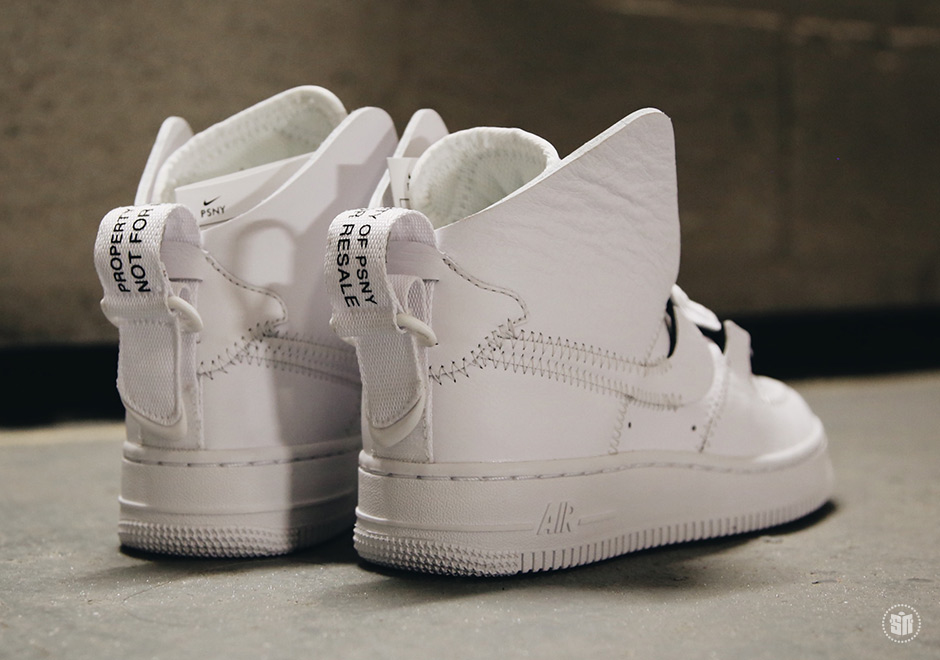 best sneakers 67122 148f0 PSNY x Nike Air Force 1 High Color  White White-White Style Code   A09292-100. Advertisement