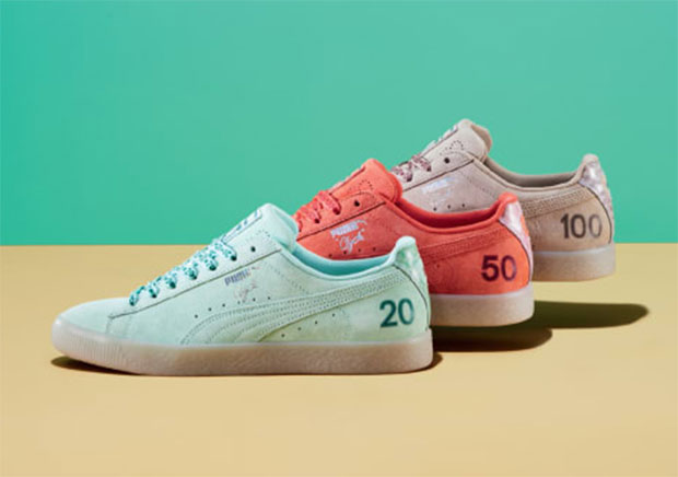612e6379d8f Puma is celebrating Canada s 150th birthday with the release of a trio of  Puma Clyde s inspired by the country s currency. Each Puma Clyde will  feature a ...