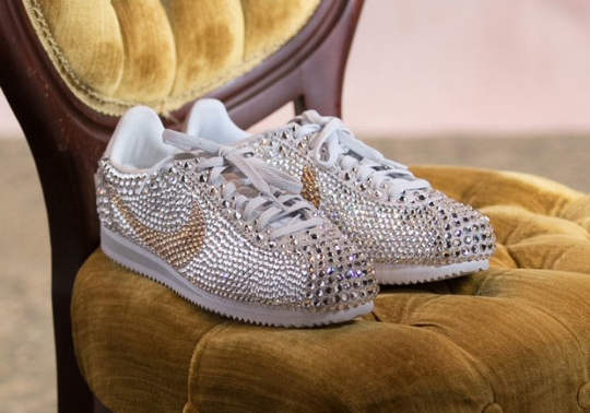 Serena Williams Wears Bedazzled Nike Cortez For Her Wedding Afterparty