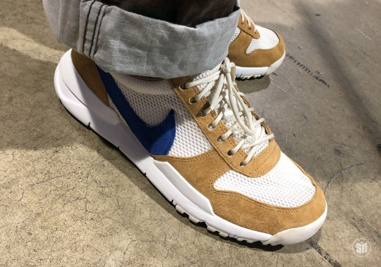 Tom Sach's Nike Mars Yard 2.0 With Navy Swoosh Spotted At Complex Con