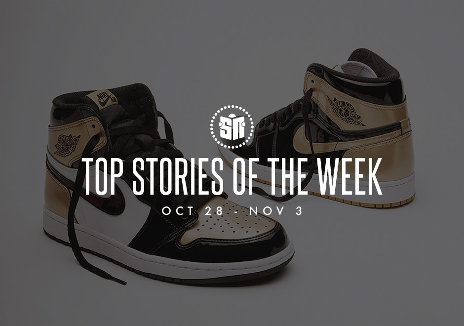 """0450d563699cef ... at one of the most intriguing Air Jordan 1 colorways that has surfaced  in quite some time with a black and gold patent leather rendition of the """"Top  3"""" ..."""