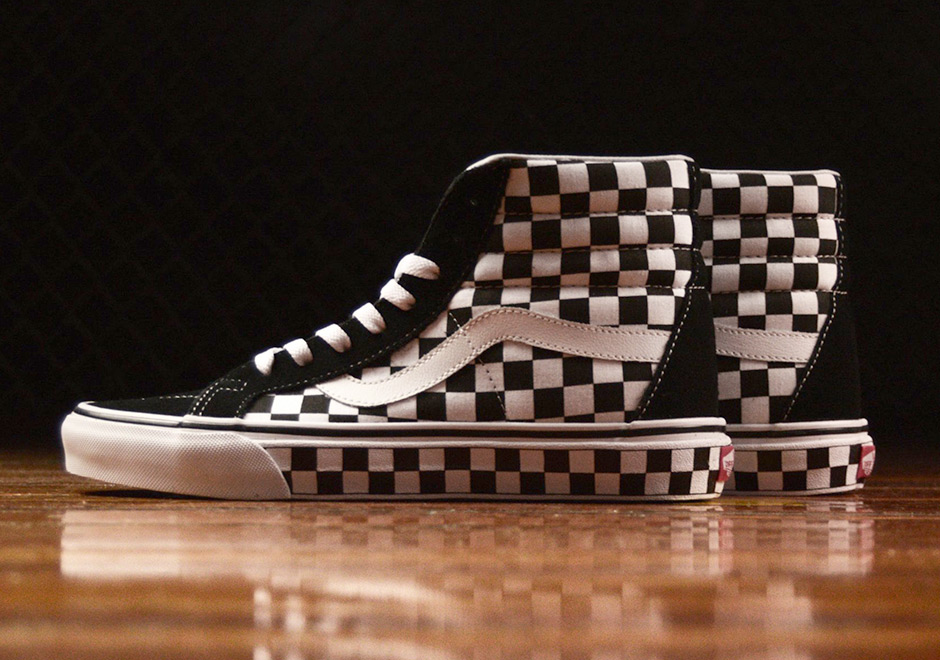 vans skate high checker