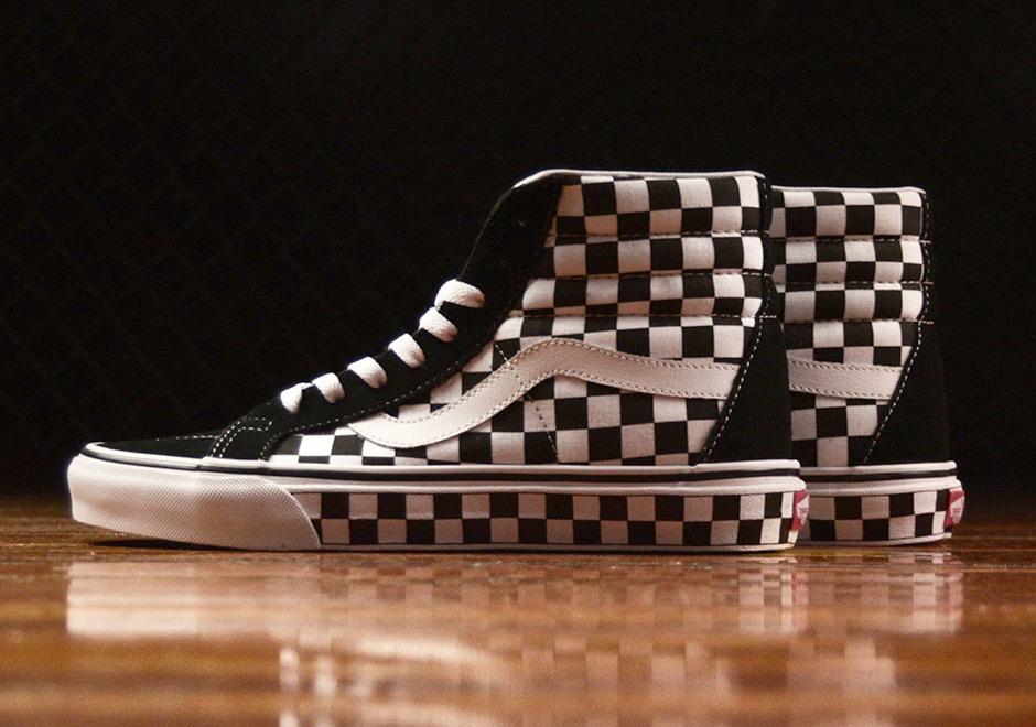 vans sk8 high checkerboard