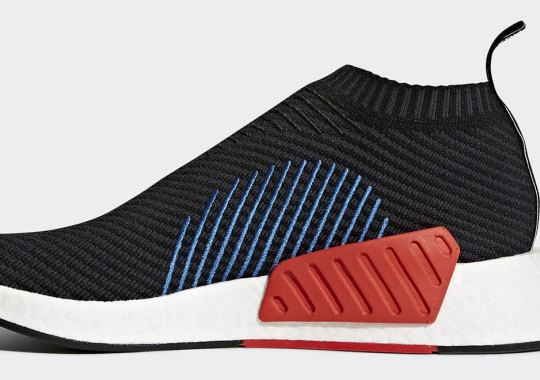 "adidas NMD CS2 ""Core Black"" Adds Blue And Orange Detailing"