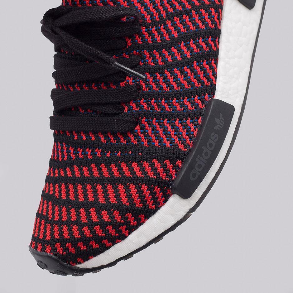adidas NMD R1 STLT  170. Color  Core Black Red Blue d5e173a46260