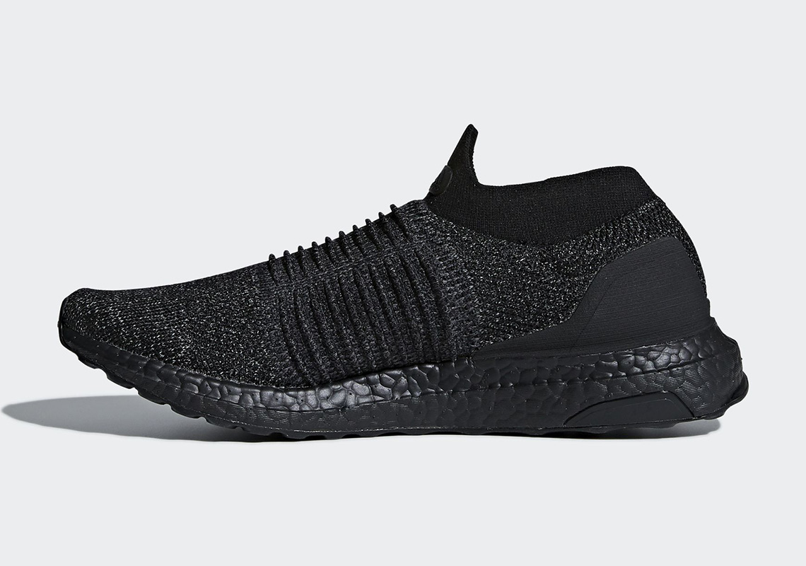 a892f66b5 adidas Ultra BOOST Laceless Release Date  January 2018  200. Color   Black Black-Black Style Code  BB6222. Advertisement