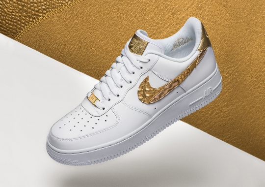 """Cristiano Ronaldo Gets His Own Nike Air Force 1 Low """"Golden Patchwork"""" Release"""