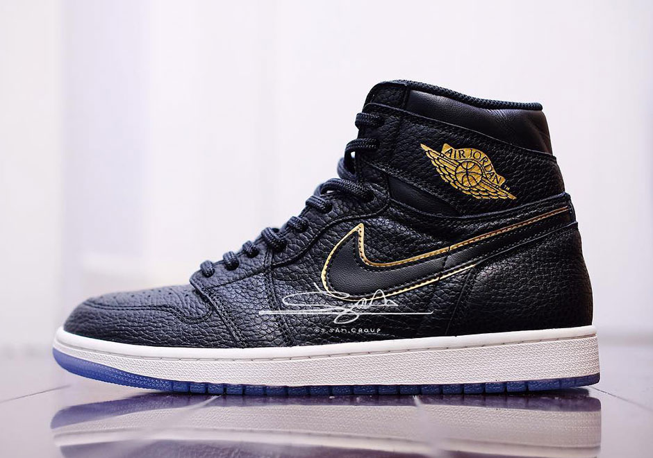 "51155e9f2853fe Air Jordan 1 Retro High OG ""LA"" Release Date  February 2018  160. Color   Black Metallic Gold-Summit White"