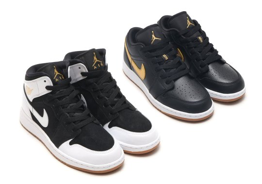 "Air Jordan 1 ""Gold And Gum"" Pack For Kids"