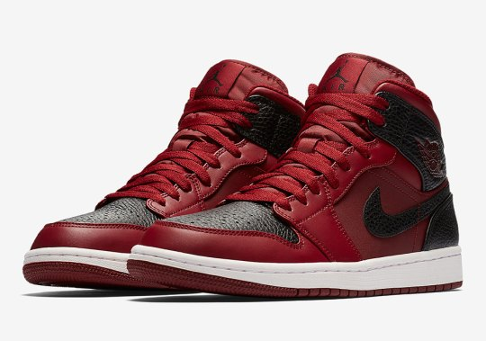 "Air Jordan 1 Mid ""Reverse Banned"" Features Tumbled Leather"