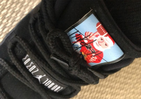Tinker Hatfield Sends Autographed Air Jordan 11s And Sketches With Santa Claus Labels To Friends And Family