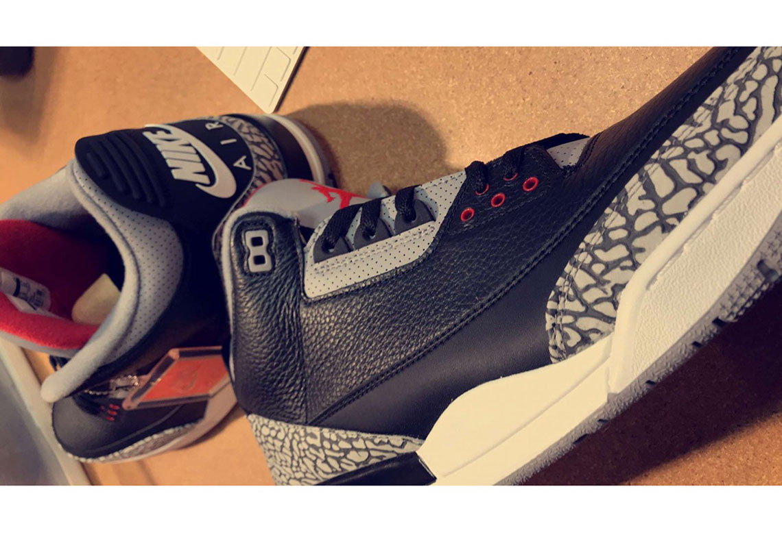 "7e87ad5d2f8d First Look At The Air Jordan 3 ""Black Cement"" 2018 Release"