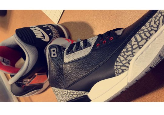 "First Look At The Air Jordan 3 ""Black Cement"" 2018 Release"