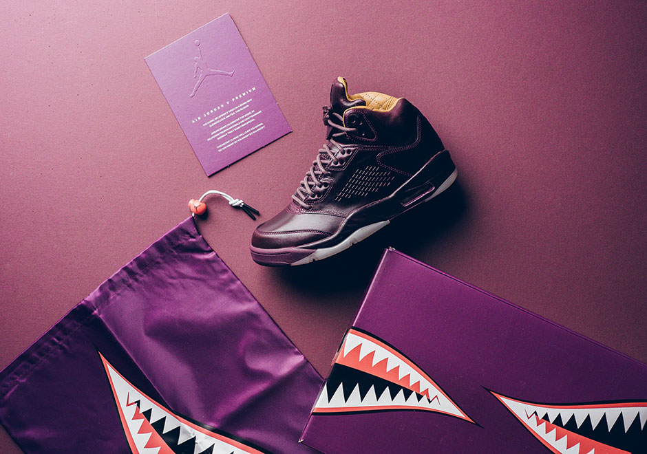 "f0659680d4e9d Jordan Brand is finishing up its string of Air Jordan 5 Premium releases  with the release of the ""Bordeaux"" colorway. The Jordan 5 Premium  ""Bordeaux"" ..."