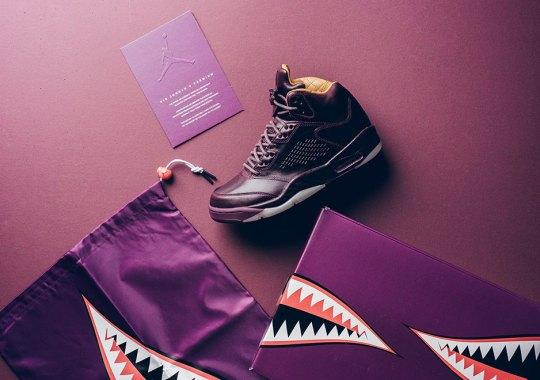 "Jordan Brand Closes Out Year Of $400 Air Jordan 5s With ""Bordeaux"""