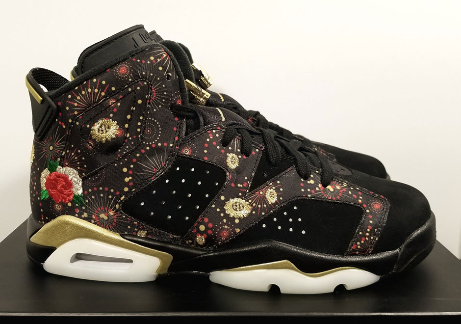 "Air Jordan 6 ""Chinese New Year"" Celebrates With Fireworks And Florals"