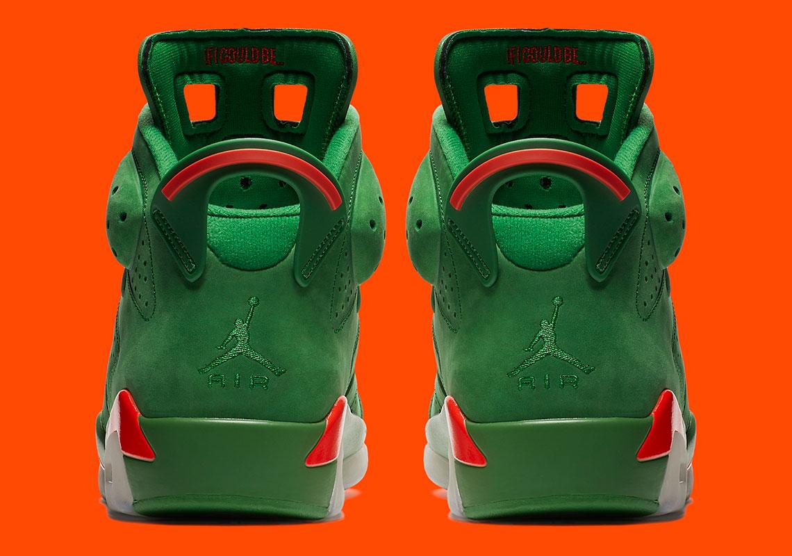 960e9867370 Jordan 6 VI Gatorade Green Suede AJ5986-335 Release Info ...